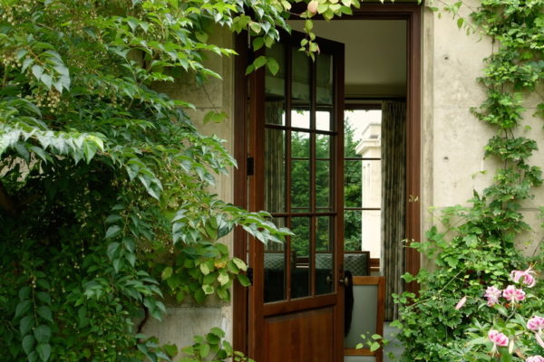 exterior courtyard door