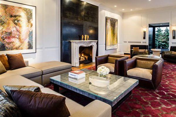 Fireplace sitting area