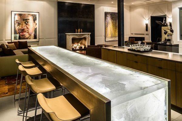 Interior countertop bar