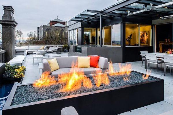 rooftop firepit